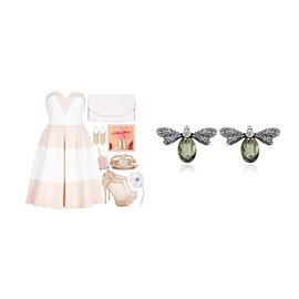 Butterfly Shape Rhinestone Inlaid Alloy Two-Piece Jewelry Sets