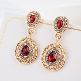 Hot Sale Ruby Pendant Necklace Earrings Jewelry Sets