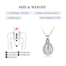Silver Water Drop Shape Pendant Two-Piece Jewelry Sets