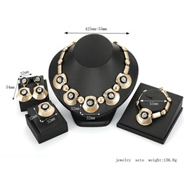 Exaggerated Fan Shape Euroamerica Party Jewelry Set