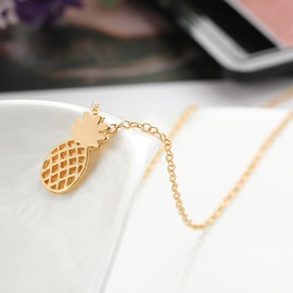 Hollow Out Pineapple Shape Golden Metal Jewelry Set
