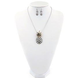 Food-Shaped E-plating Earrings Necklace Jewelry Sets