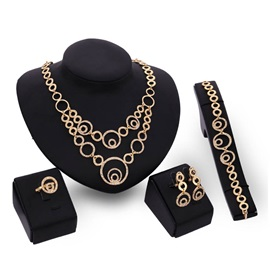 Ethnic Style Alloy 4 Piece Party Jewelry Sets