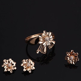 Exaggerated Floral Design Party Alloy Jewelry Sets