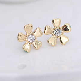 Diamante Earrings Floral Engagement Jewelry Sets