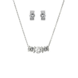 Romantic Zircon Decorated Earrings Necklace Jewelry Sets