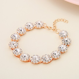 Sparkling Diamante 4 Pcs Prom Jewelry Set