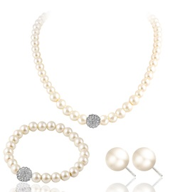 Romantic Pearl Decorated 3 Piece Party Jewelry Sets