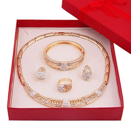 Bangle Alloy Diamante Fashion Jewelry Set