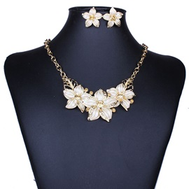Diamante Vintage Floral Jewelry Sets