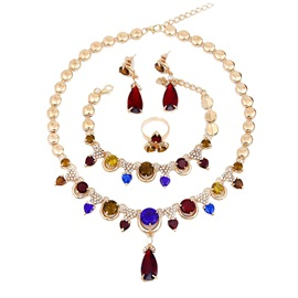 Crystal Inlaid Style Fashion Prom Jewelry Set
