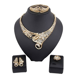 Alloy Floral Fashion Jewelry Set