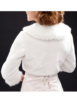 3/4 Length Sleeves Faux Fur Wedding Jacket