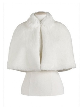Pretty Wrap Faux Fur Shawl for Bridal