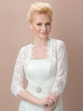 White Lace Bridal Jacket