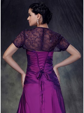Short Sleeve with Purple Thread Jacket