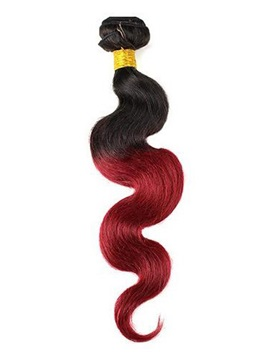 Elegant Colored Wavy Human Hair Weave/Weft 1 PC