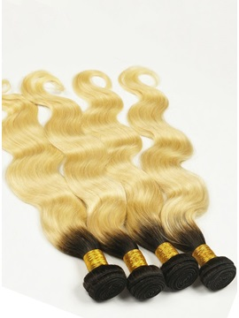 Black to Blonde Human Hair Body Weave 1 PC
