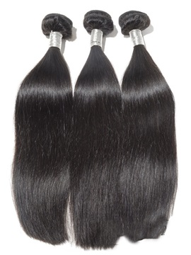 Natural Black Straight Human Hair Weave 1 PC