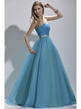Attractive Sweetheart Appliques Sequine Lace-up Floor-Length Prom/Quinceanera Dress & fairytale Ball Gown Dresses