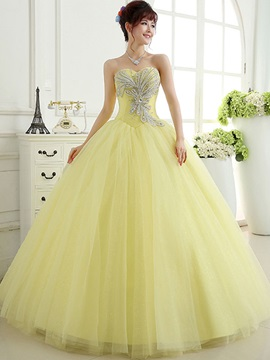 Pretty Ball Gown Sweetheart Crystal Sequins Lace-up Quinceanera Dress & vintage style Ball Gown Dresses