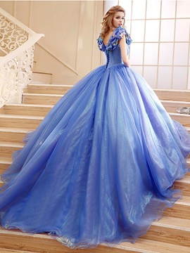 Ball Gown Pick-ups Appliques Quinceanera Dress & amazing Ball Gown Dresses