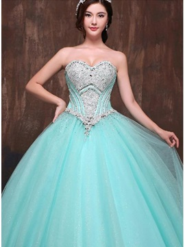 Dramatic Sweetheart Sequins Beaded Lace-up Ball Gown Quinceanera Dress & discount Ball Gown Dresses