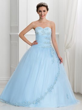 Dramatic Sweetheart Beading Lace-Up Ball Gown Quinceanera Dress & attractive Ball Gown Dresses