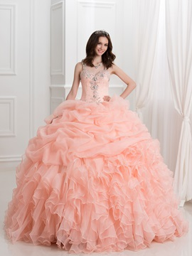Dramatic Ball Gown Straps Beading Pick-ups Quinceanera Dress & Ball Gown Dresses on sale