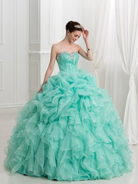 Glamorous Sweetheart Beading Pick-ups Ball Gown Quinceanera Dress & affordable Ball Gown Dresses