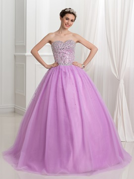 Dramatic Sweetheart Sequins Ball Gown Quinceanera Dress & Ball Gown Dresses under 100