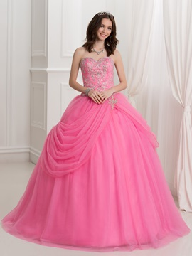 Sweetheart Beading Embroidery Quinceanera Dress & Ball Gown Dresses under 500