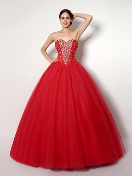 Gorgeous Ball Gown Sweetheart Beaded Sequins Quinceanera Dress & Ball Gown Dresses for sale