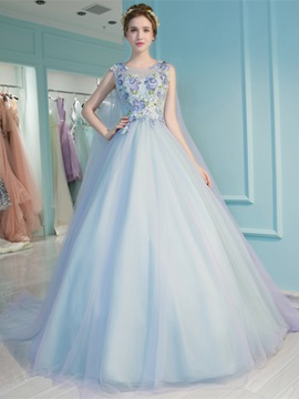 Charming Ball Gown Sleeveless Embroidery Scoop Quinceanera Dress & Ball Gown Dresses under 300