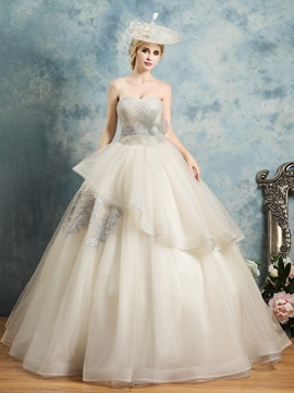 Sweetheart Appliques Bowknot Pleats Sashes Quinceanera Dress & romantic Ball Gown Dresses