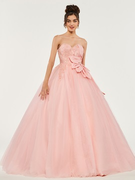 Appliques Sweetheart Empire Beading Quinceanera Dress