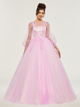Bateau Appliques Button Quineanera Dress & amazing Ball Gown Dresses