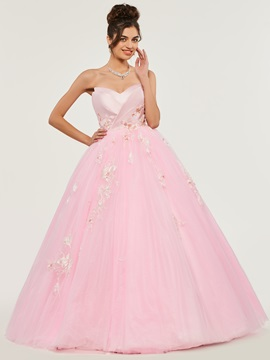 Sweetheart Appliques Lace Quinceanera Dress & amazing Ball Gown Dresses