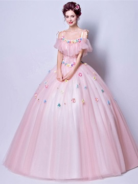 Straps Floor-Length Lace Ball Gown Quinceanera Dress 2019 & Ball Gown Dresses on sale