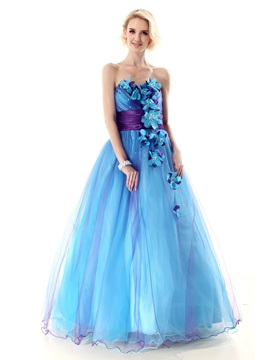 Glamorous Sweetheart Flowers A-Line Nastye's Long Quinceanera Dress & Ball Gown Dresses under 500