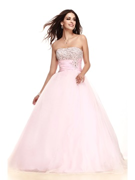 Brilliant Strapless Sequins Beading Empire Waist Taline's Quinceanera Dress & unusual Ball Gown Dresses