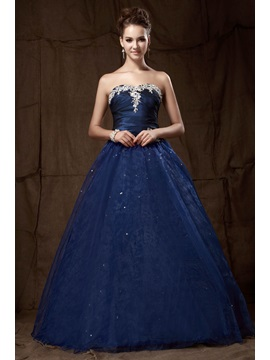 Vintage Sweetheart Appliques Sequins A-Line Sandra's Quinceanera Dress & affordable Ball Gown Dresses