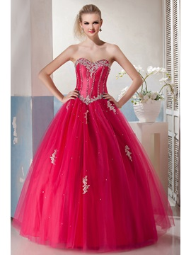 Sweetheart Appliques Sequins Floor-Length Yana's Quinceanera Dress & Ball Gown Dresses under 300