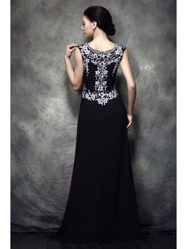 Fabulous A-Line Scoop Floor-length Polina's Mother of the Bride Dress