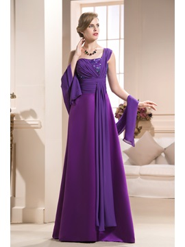 Gorgeous Beading Sequins A-Line One-Shoulder Floor-Length Mother of the Bride Dress