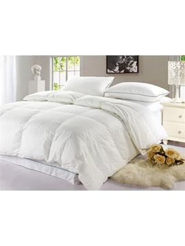 Warmly White Cotton Thicken White Goose Down Comfortable Quilt