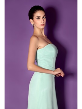 Trumpet Strapless Mother of the Bride Dress With Jacket