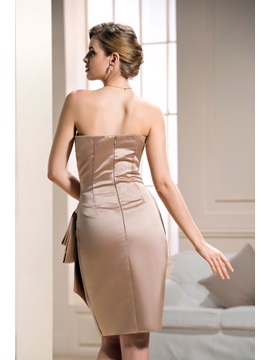 Elegant Bateau knee-length Sheath/Column Formal Dress