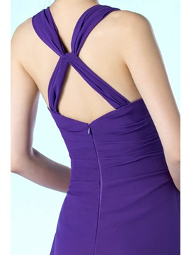 New Simple Style V-Neckline Floor Length A-Line Mother of the Bride Dress