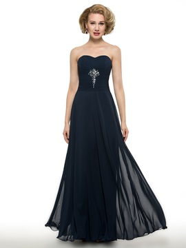 Sweetheart A Line Long Mother Of The Bride Dress With Jacket